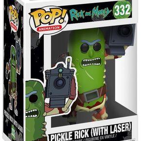 Figurine Pop! Rick Cornichon Avec Laser - Rick et Morty
