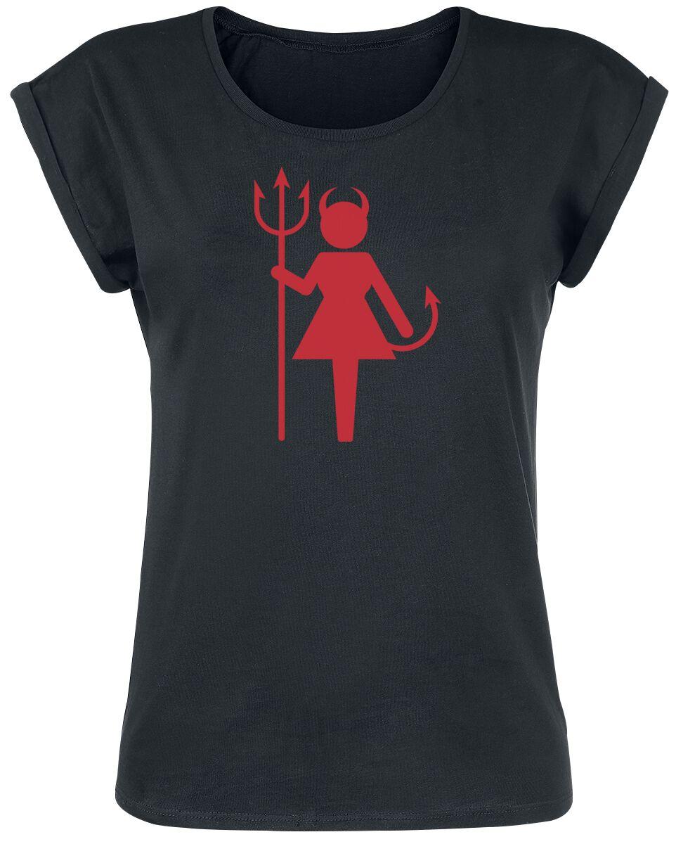 Fun Shirts - Koszulki - Koszulka damska Female Devil Koszulka damska czarny - 369753
