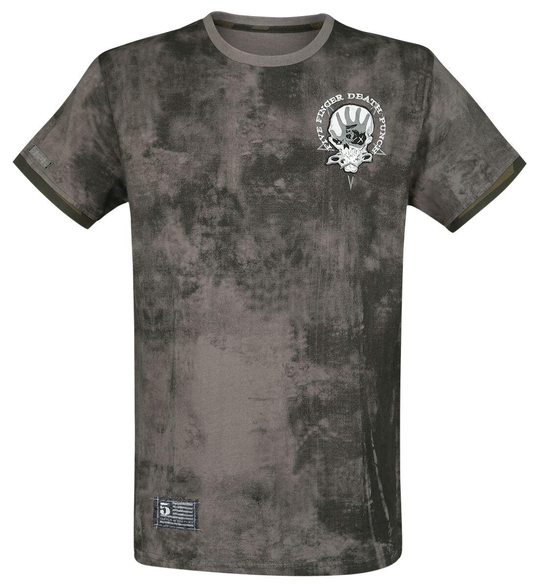 Image of   Five Finger Death Punch EMP Signature Collection T-Shirt multifarvet