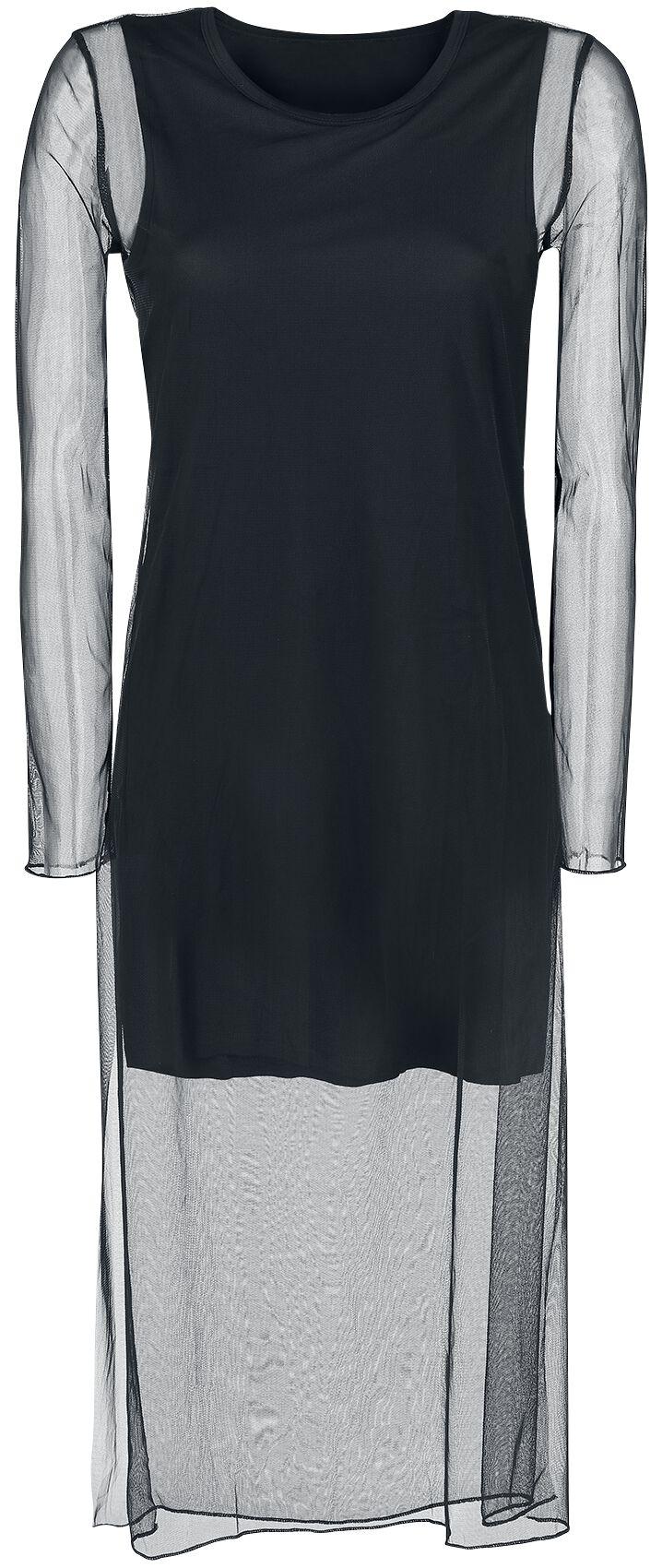 Image of   Forplay Kleid mit Netzstoff überzogen Maxikjole sort