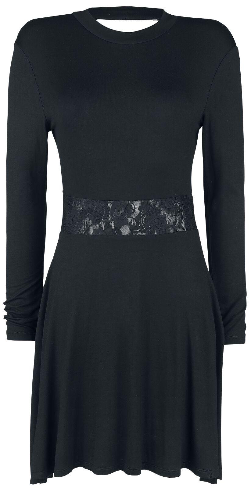 Image of   Forplay Kleid mit Spitze im Taillenbereich Kjole sort