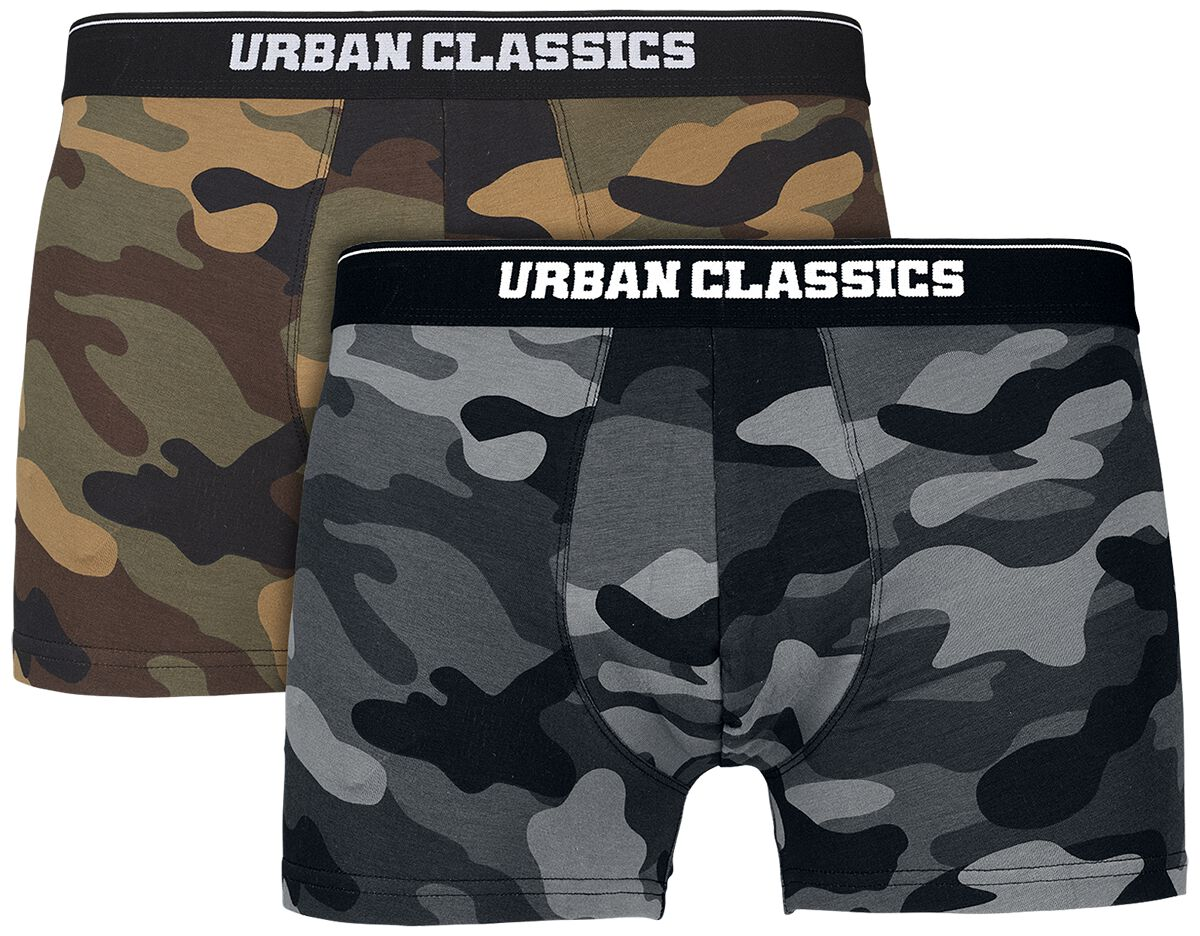 Image of   Urban Classics 2-Pack Camo Boxer Shorts Boxershorts træ/mørk camo