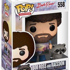 Figurine Pop! Bob Ross avec Raton-Laveur