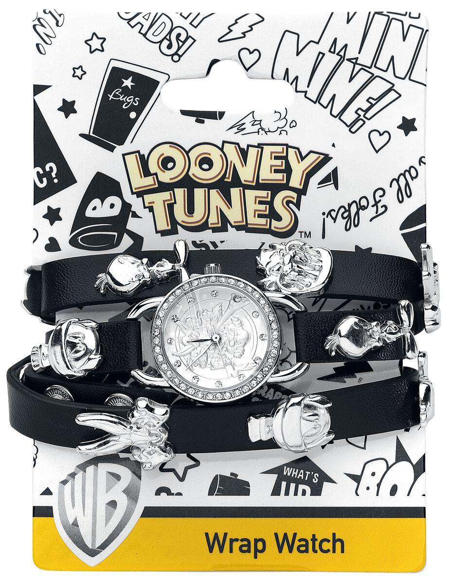 Uhren für Frauen - Looney Tunes Looney Tunes Armbanduhr schwarz silber  - Onlineshop EMP