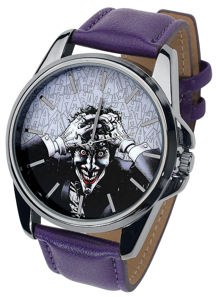 Merch dla Fanów - Zegarki na rękę - Zegarek na rękę The Joker Haha Zegarek na rękę jasnofioletowy (Lilac) - 369971
