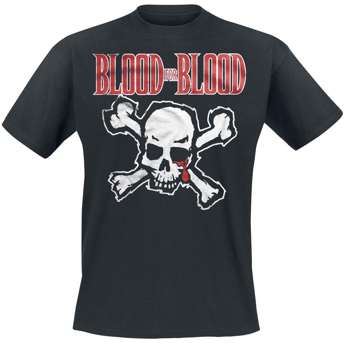 Zespoły - Koszulki - T-Shirt Blood For Blood Skull T-Shirt czarny - 369974