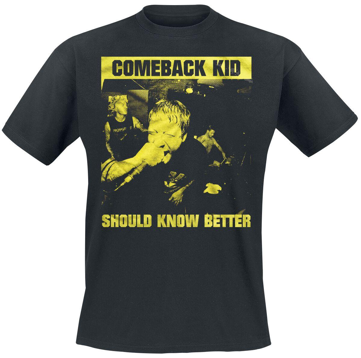 Zespoły - Koszulki - T-Shirt Comeback Kid Should Know Better T-Shirt czarny - 369975