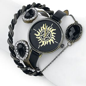 Supernatural Anti Possession Montre bracelet noir