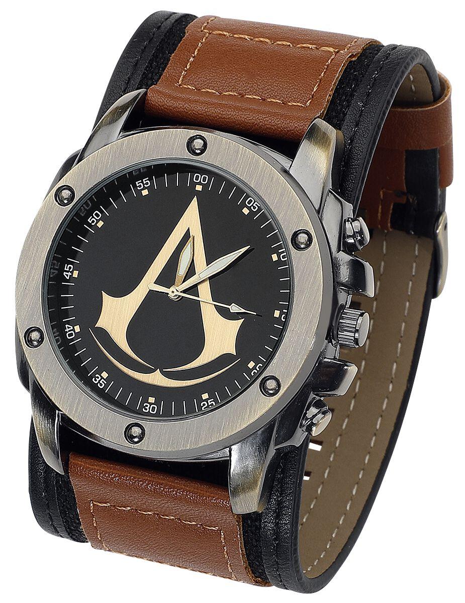 Image of   Assassin's Creed Logo Armbåndsur brun