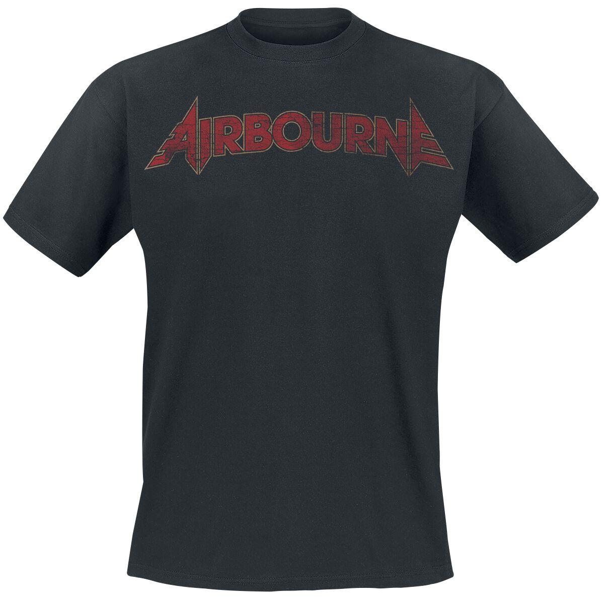 Zespoły - Koszulki - T-Shirt Airbourne Cracked Logo T-Shirt czarny - 369994