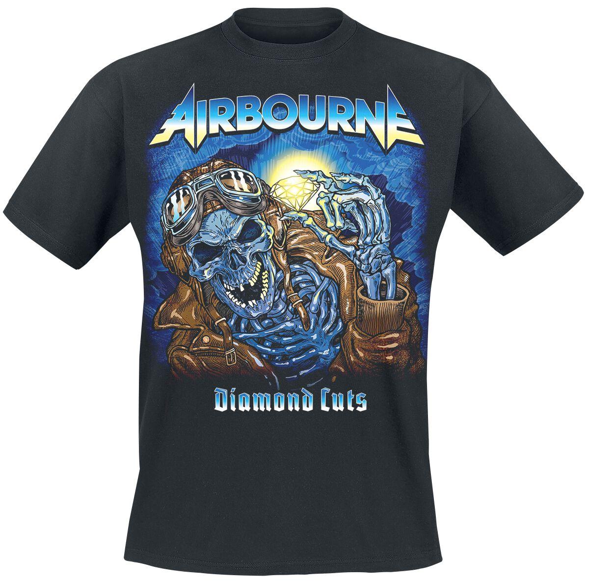 Zespoły - Koszulki - T-Shirt Airbourne Diamond Cuts T-Shirt czarny - 369996