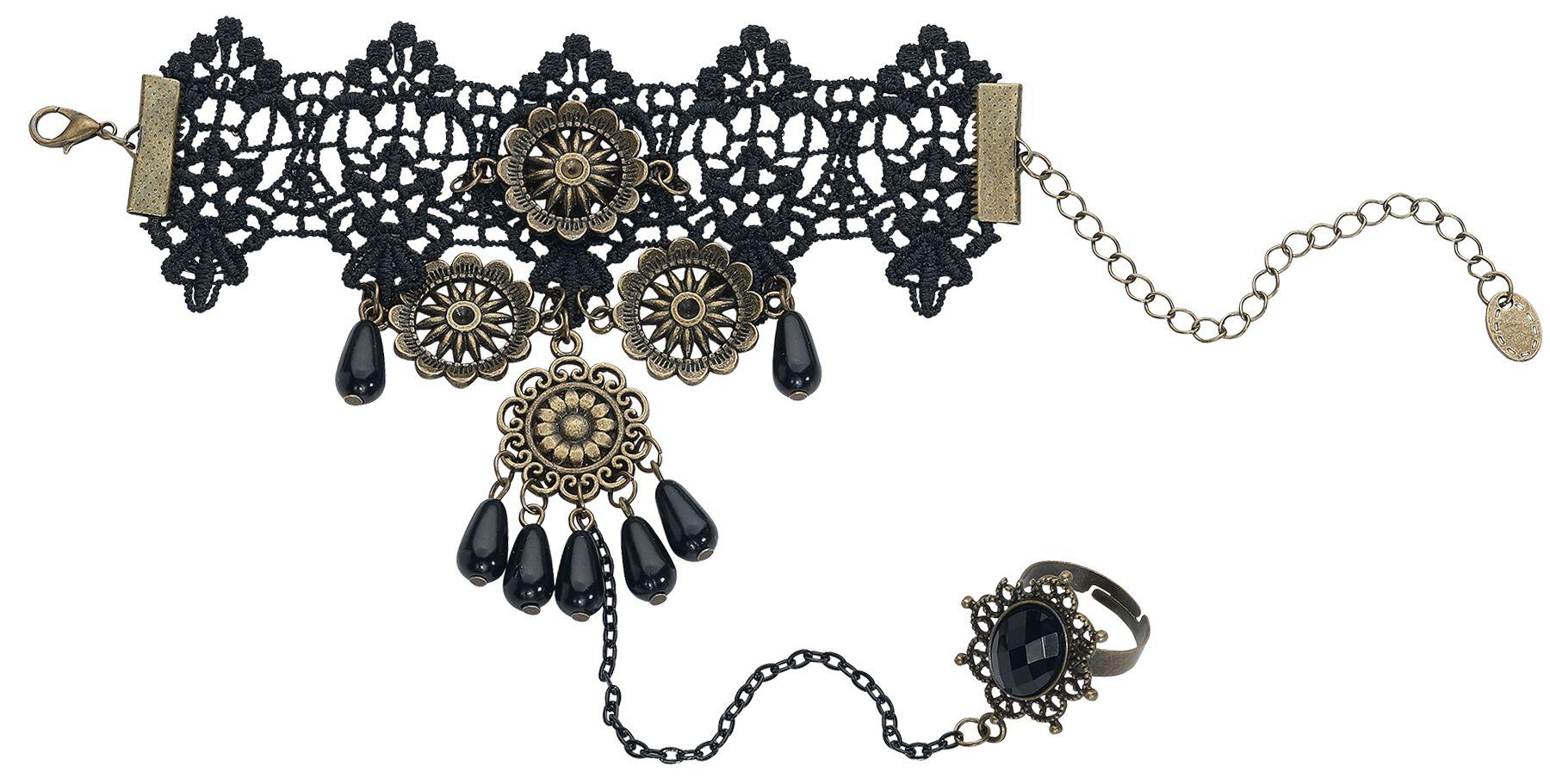 Basics - Bransoletki - Biżuteria na rękę Gothic Blumen Biżuteria na rękę czarny - 370007