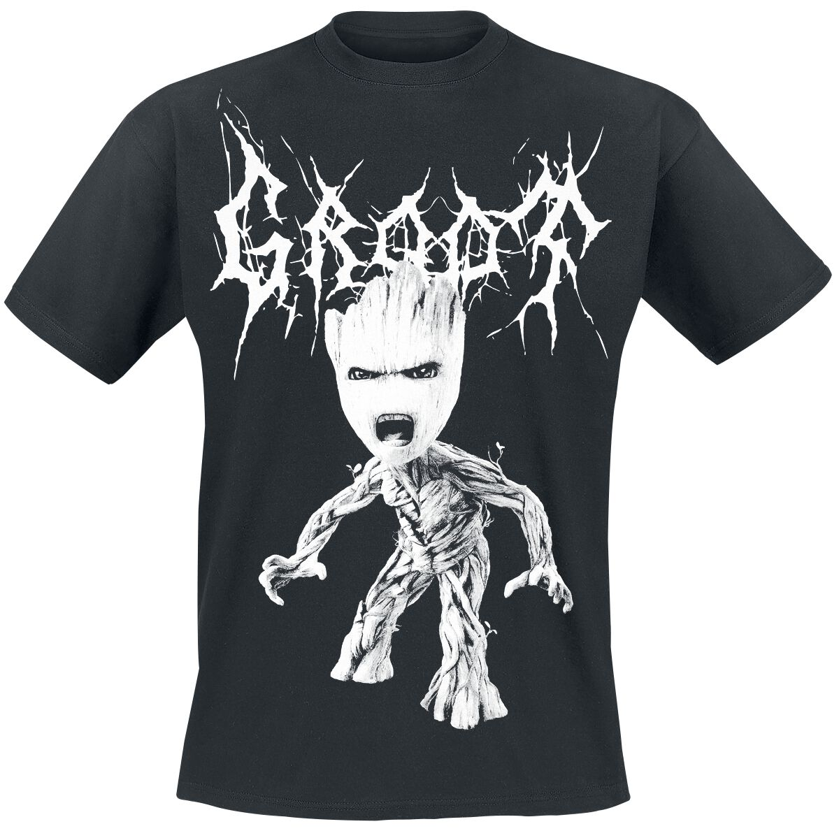 Image of   Guardians Of The Galaxy 2 - Black Metal Groot T-Shirt sort