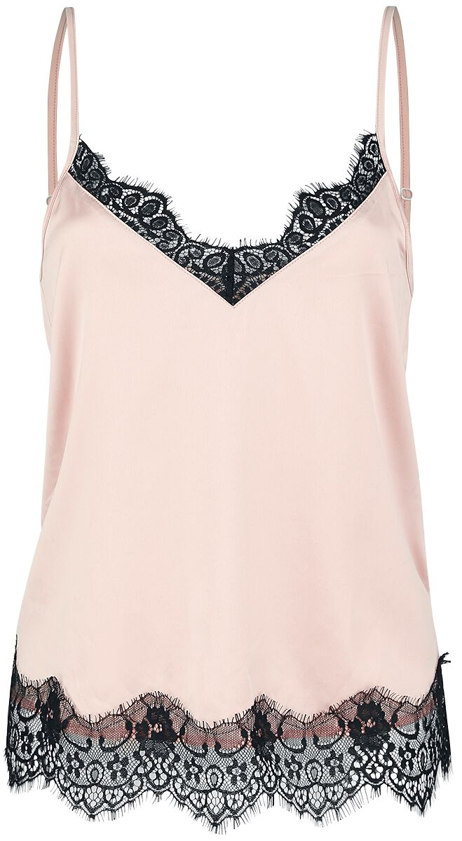 Image of   Fashion Victim Camisole Spitzentop Girlie top lys pink