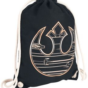 Star Wars Episode 8 - The Last Jedi - Golden Rebel Logo Sac de Gym noir