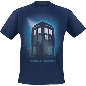 Doctor Who Time And Relative Dimension In Space T-shirt marine