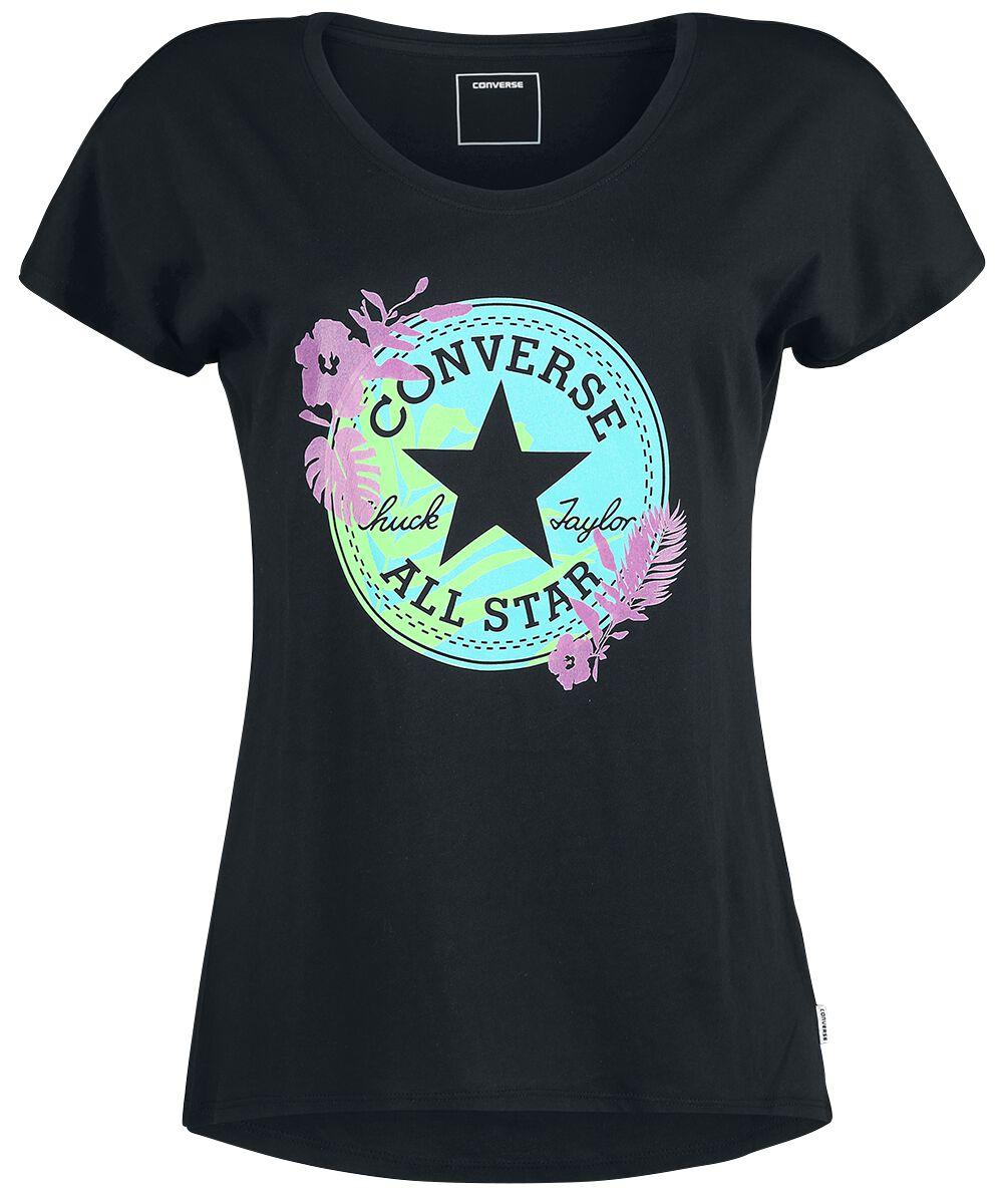 Image of   Converse Palm Print CP Fill Femme Tee Girlie trøje sort