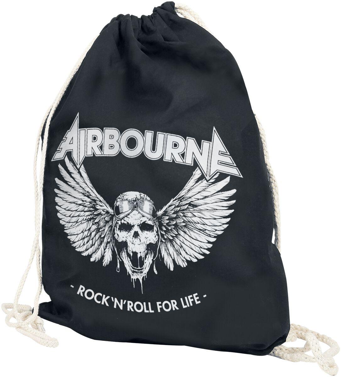Zespoły - Torby i Plecaki - Torba treningowa Airbourne Rock 'N Roll For Life Torba treningowa czarny - 370063