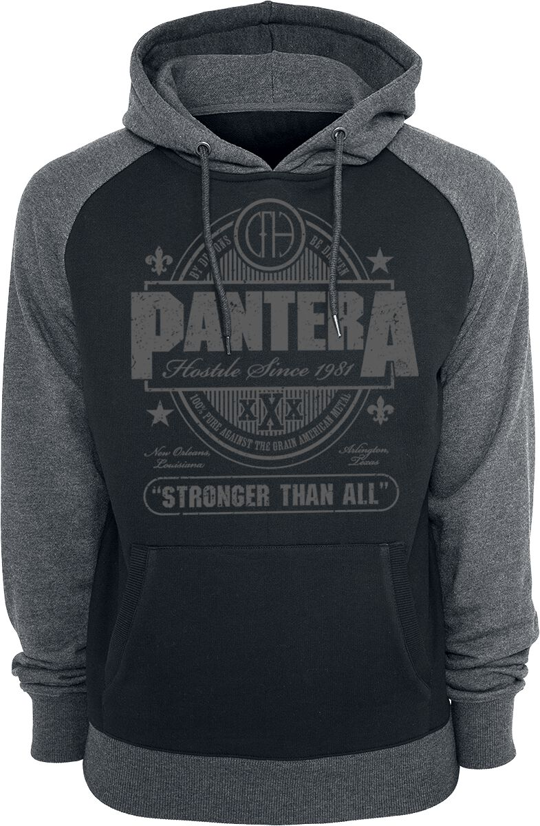 Zespoły - Bluzy z kapturem - Bluza z kapturem Pantera Stronger Than All Bluza z kapturem czarny/szary - 370086