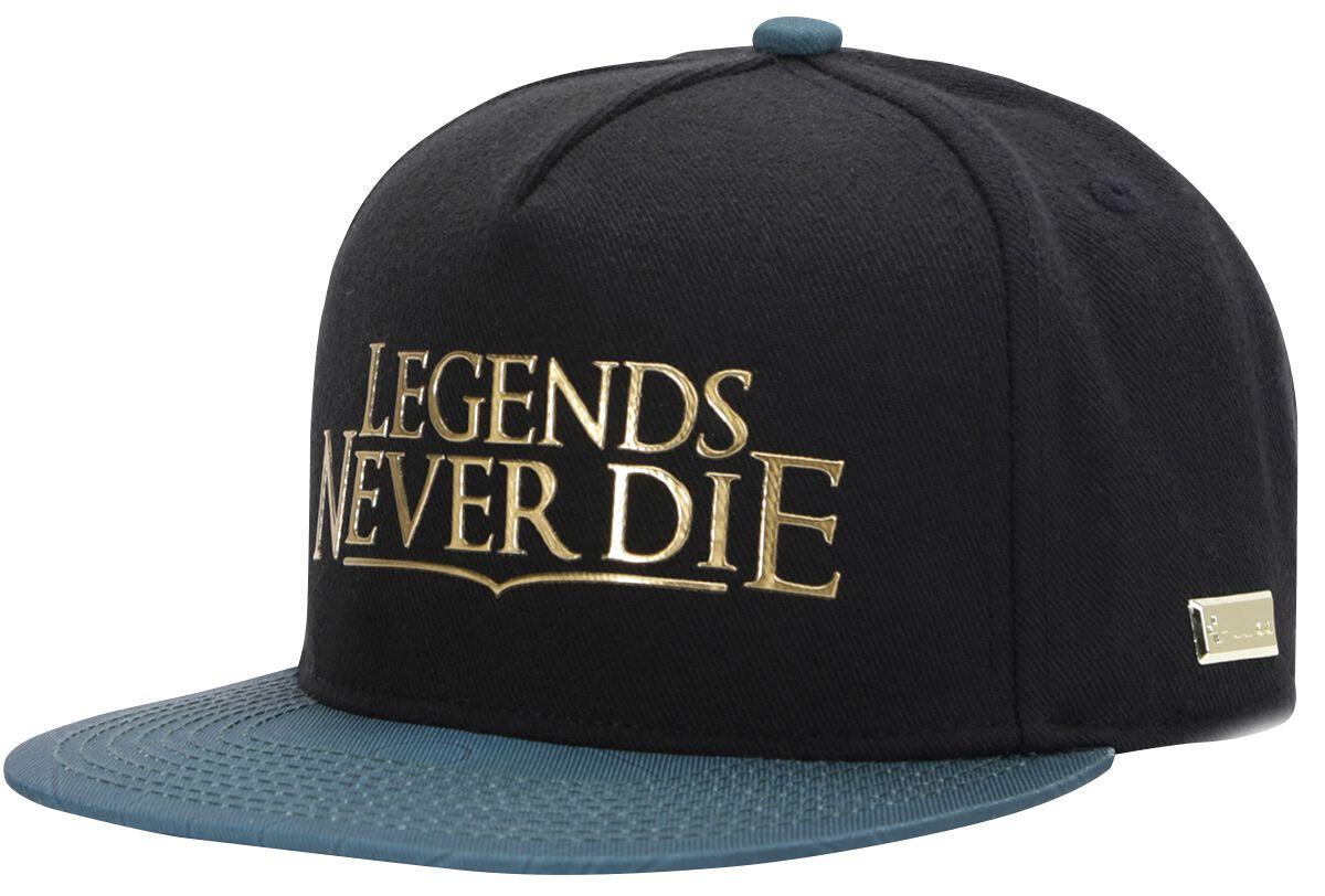 Merch dla Fanów - Czapki i Kapelusze - Czapka Snapback Hands of Gold Legends Never Die Czapka Snapback czarny - 370099