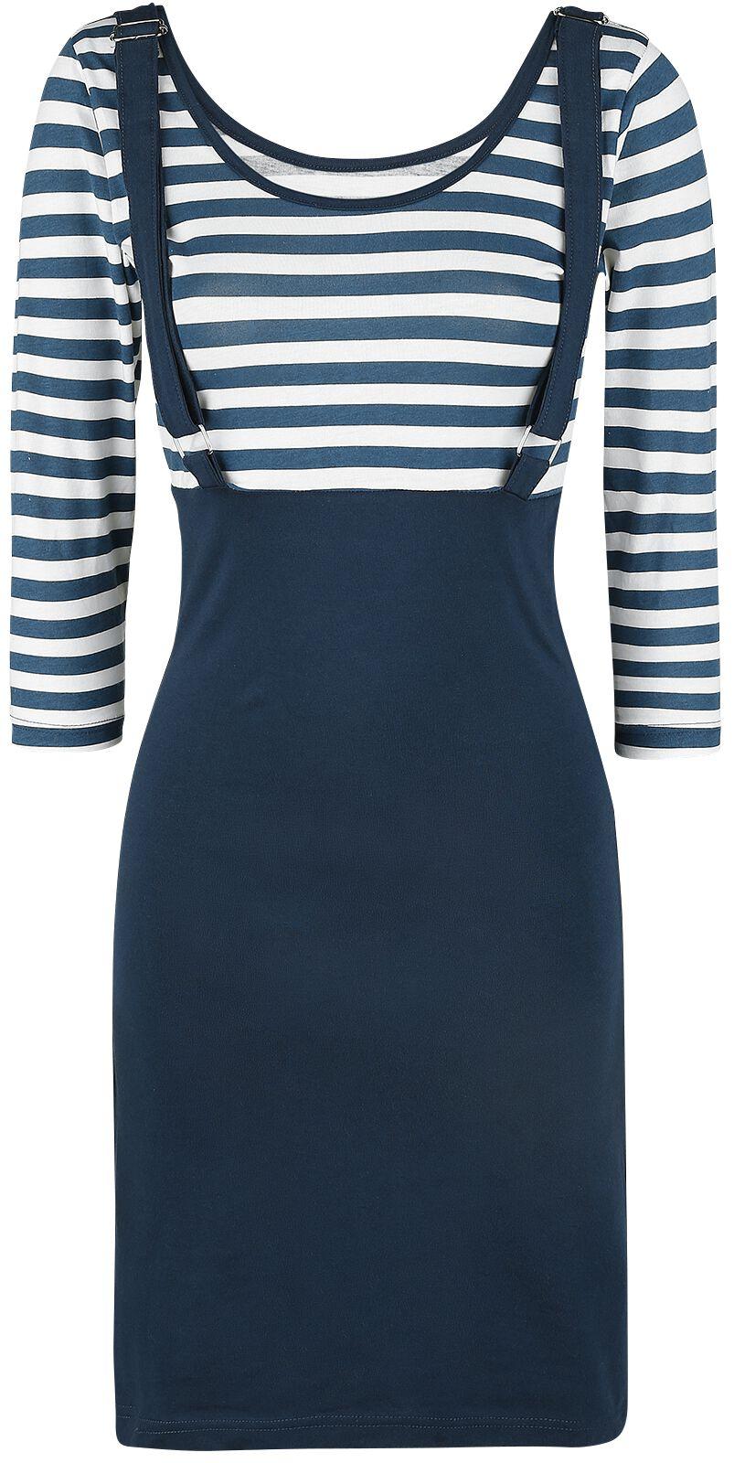 Marki - Sukienki - Sukienka Rockabella Compass Dress Sukienka niebieski/biały - 370182