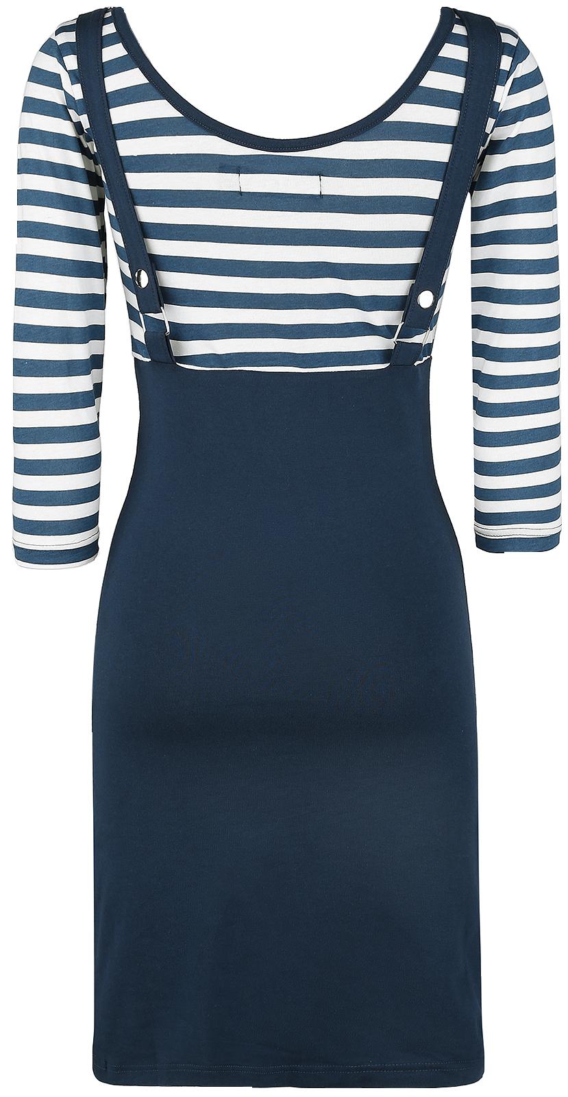 rockabella compass dress kleid blau wei ebay. Black Bedroom Furniture Sets. Home Design Ideas