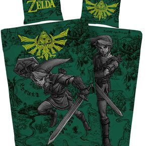 The Legend Of Zelda Fight Parure de lit 1 place multicolore