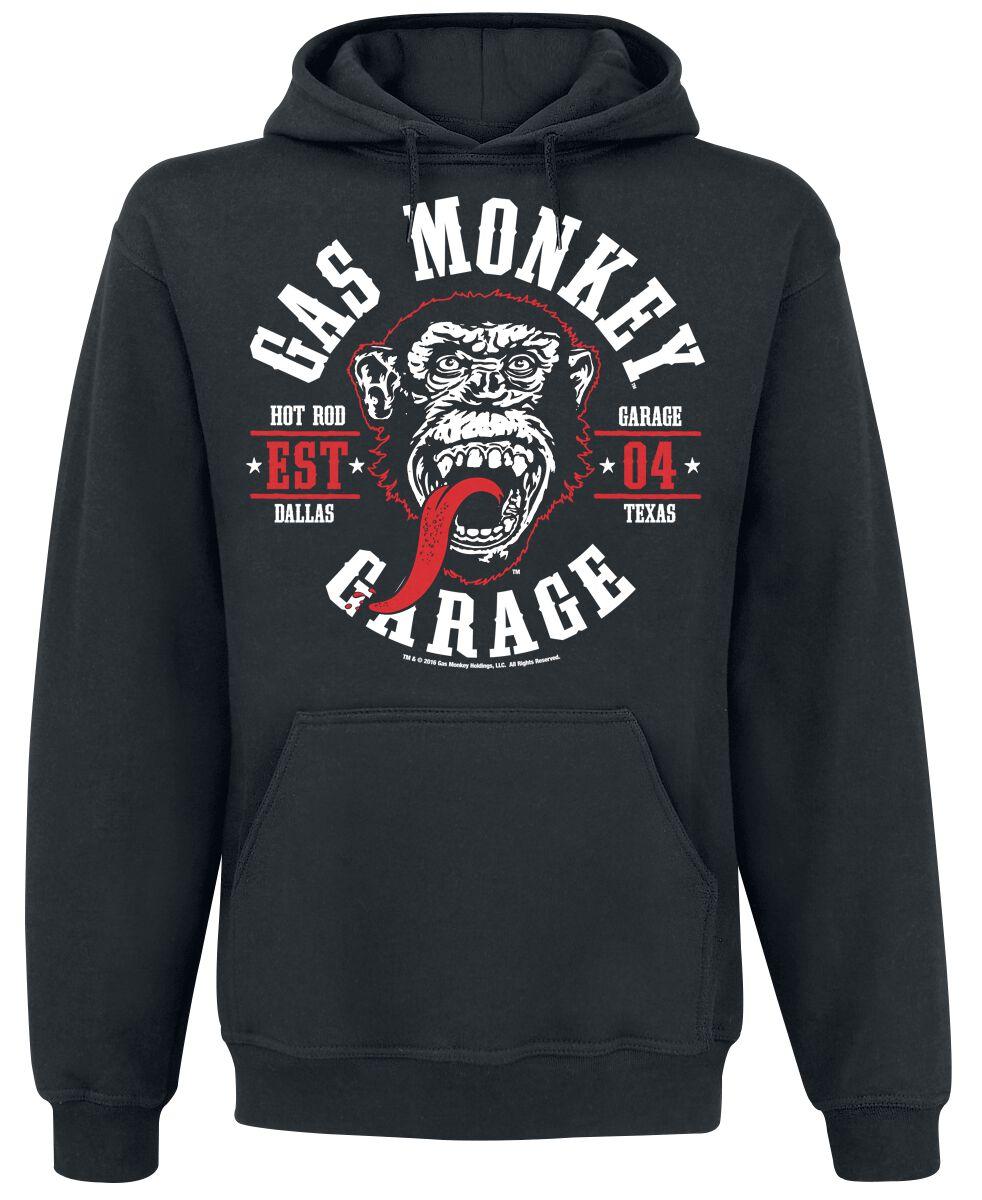 Merch dla Fanów - Bluzy z kapturem - Bluza z kapturem Gas Monkey Garage Round Seal Bluza z kapturem czarny - 370207