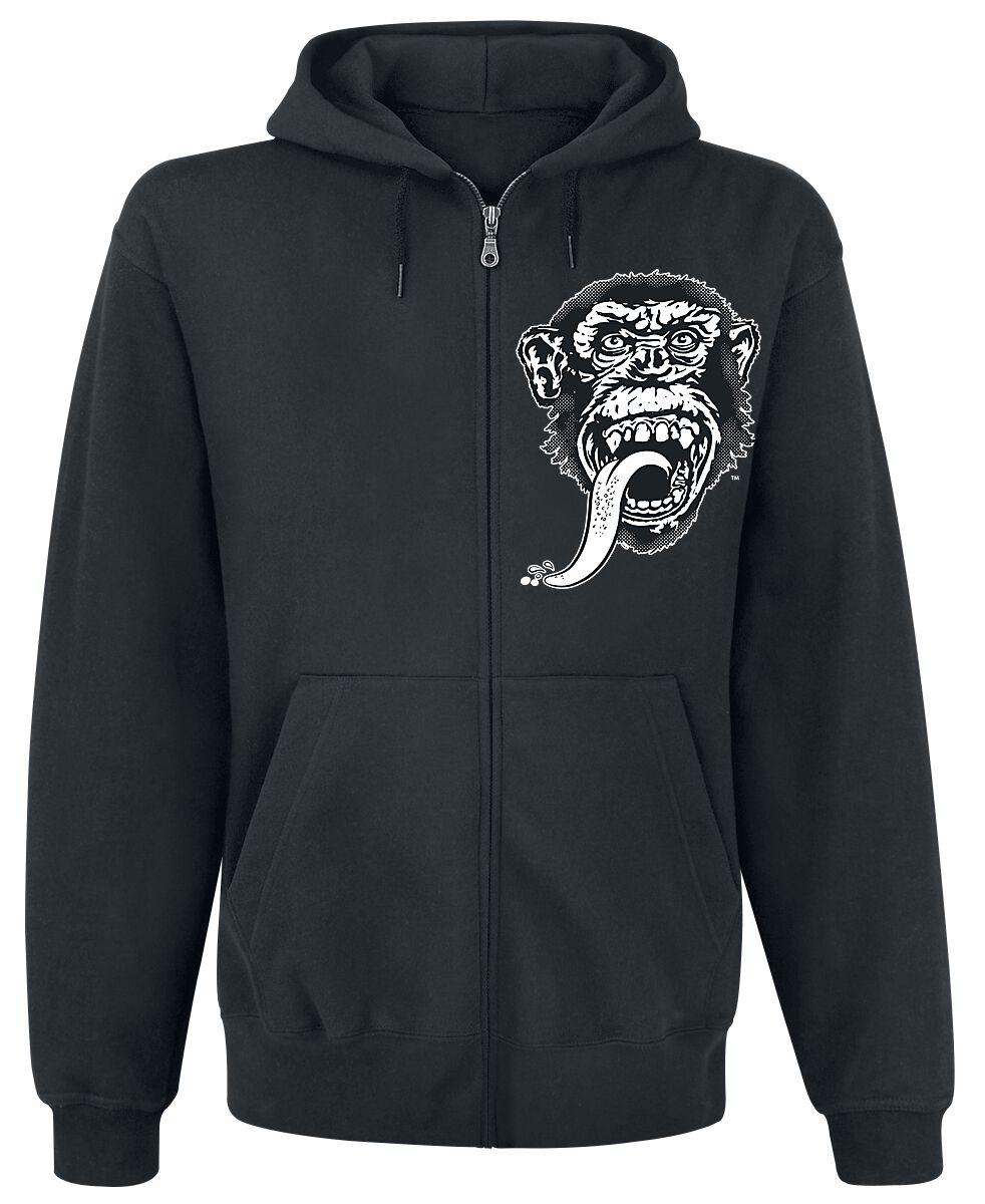 Merch dla Fanów - Bluzy z kapturem - Bluza z kapturem rozpinana Gas Monkey Garage Dallas Texas Bluza z kapturem rozpinana czarny - 370211