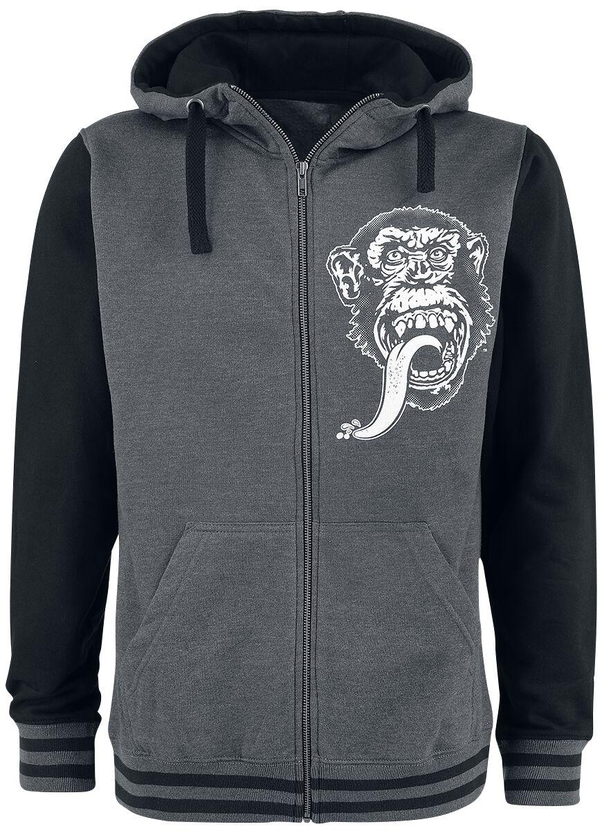 Merch dla Fanów - Bluzy z kapturem - Bluza z kapturem rozpinana Gas Monkey Garage Texas Varsity Bluza z kapturem rozpinana odcienie ciemnoszarego - 370214