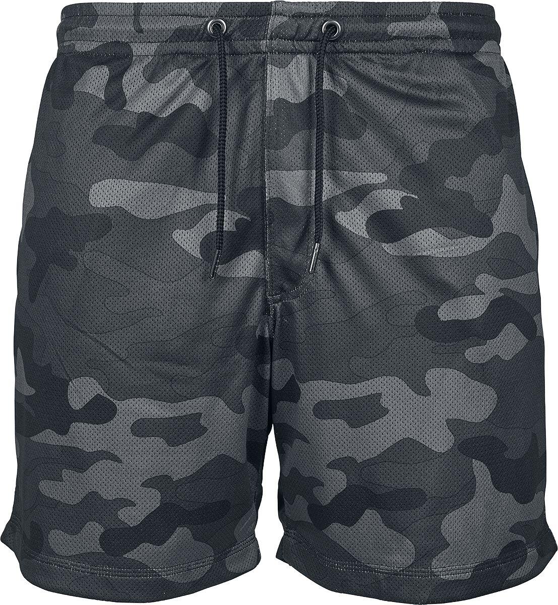 Image of   Urban Classics Camo Mesh Shorts Shorts mørk camo