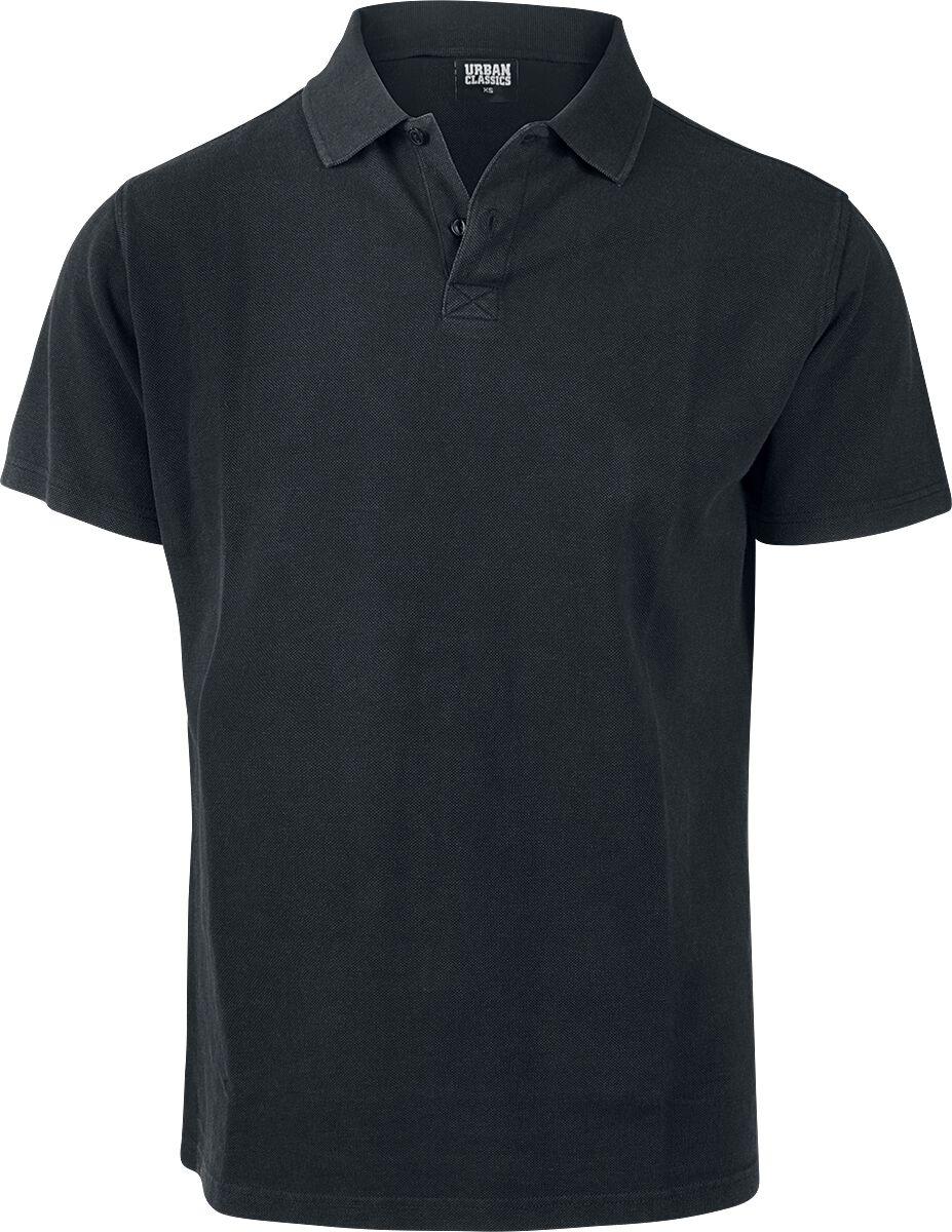 Image of   Urban Classics Garment Dye Pique Poloshirt T-Shirt sort