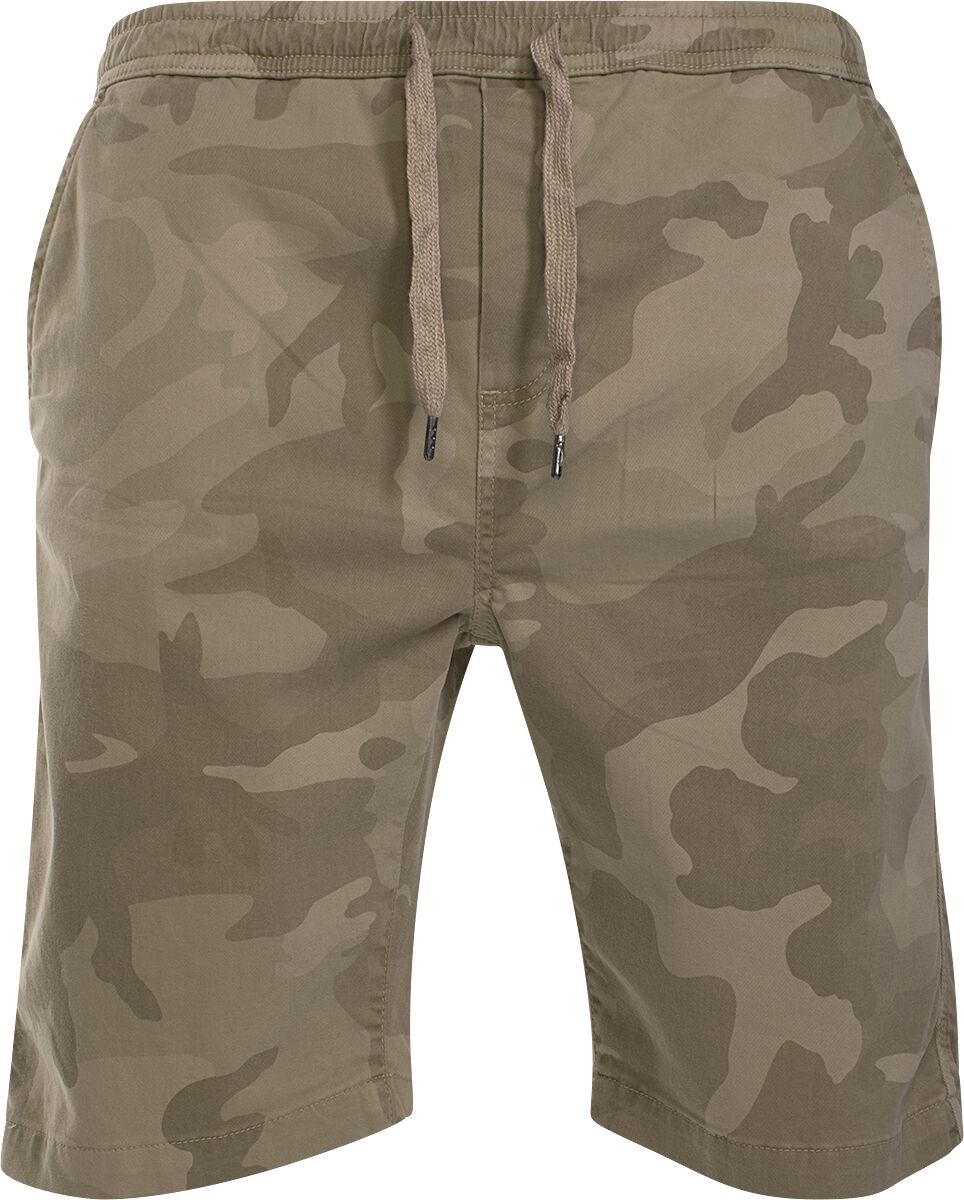 Image of   Urban Classics Camo Joggshorts Shorts sand camo