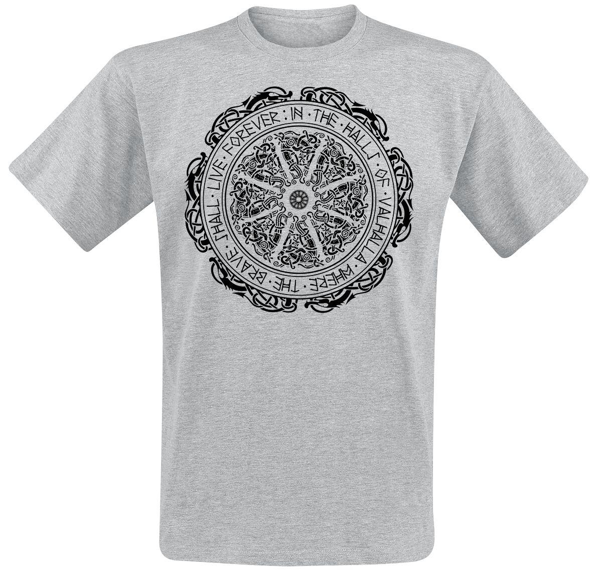 Motyw - Koszulki - T-Shirt Ancient Shield T-Shirt odcienie szarego - 370349