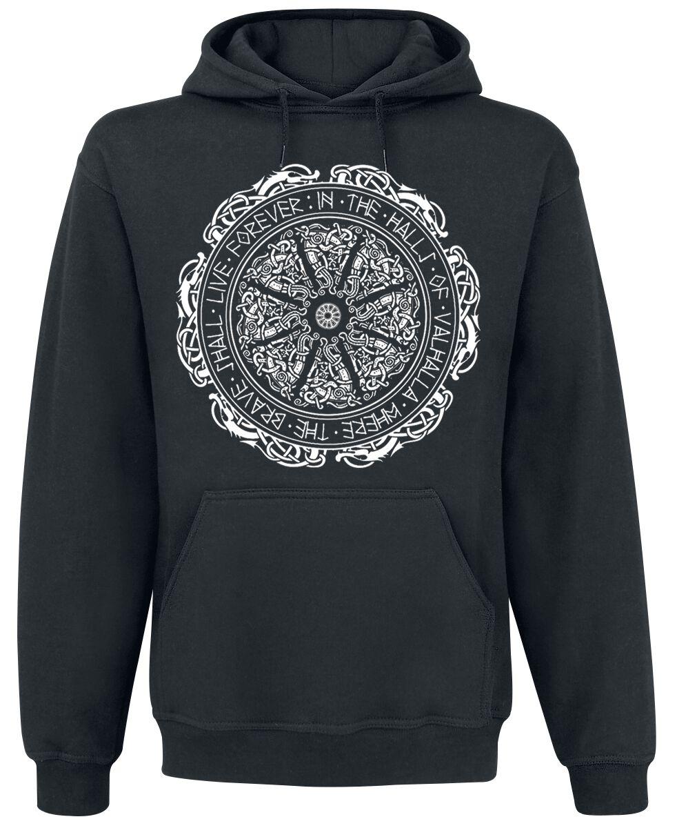 Motyw - Bluzy z kapturem - Bluza z kapturem Ancient Shield Bluza z kapturem czarny - 370354