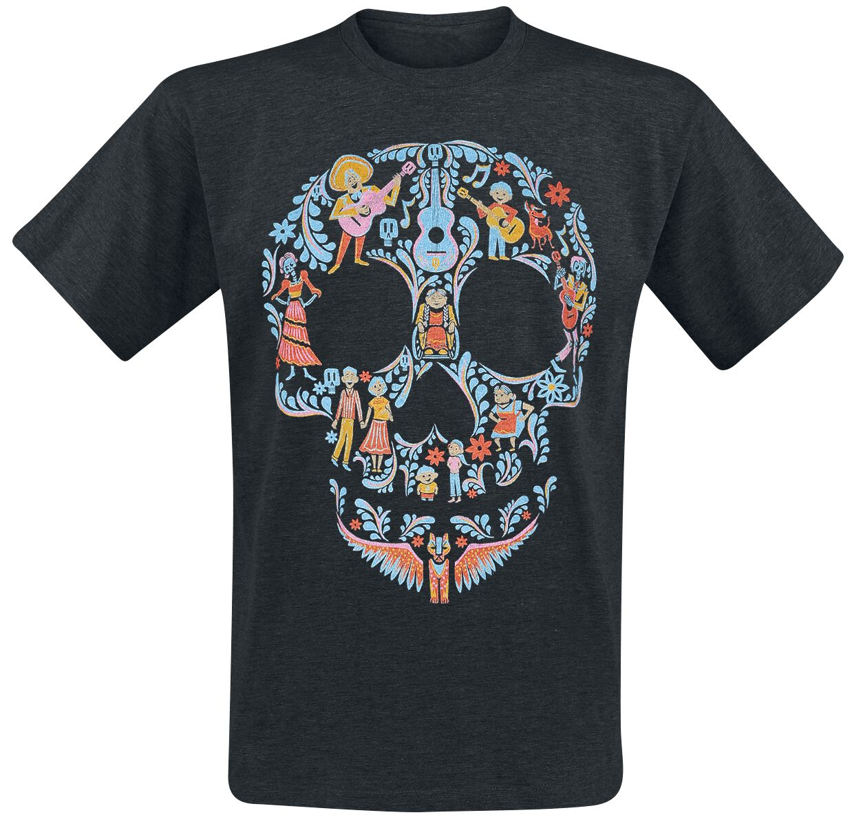 Merch dla Fanów - Koszulki - T-Shirt Coco Team Family Skull T-Shirt odcienie czarnego - 370420