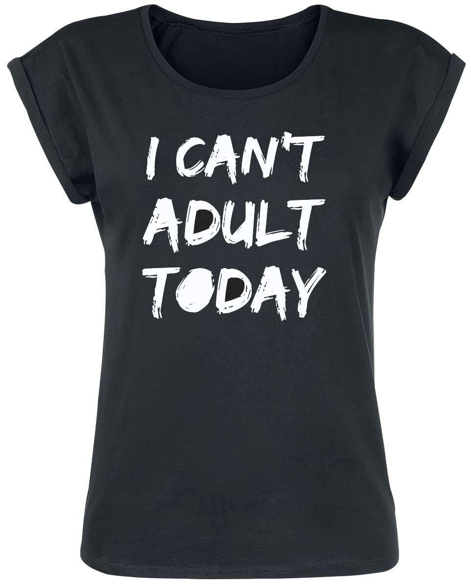 Fun Shirts - Koszulki - Koszulka damska I Can`t Adult Today Koszulka damska czarny - 370499