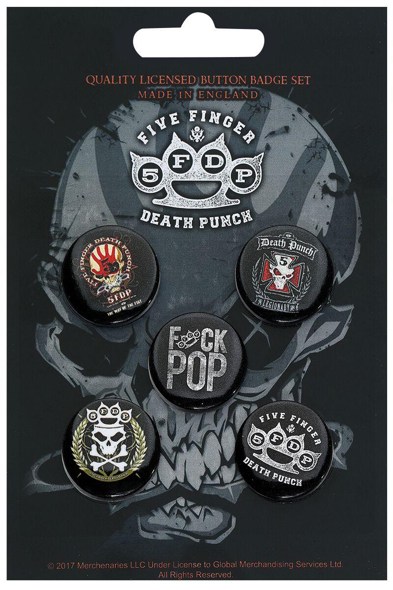 Image of   Five Finger Death Punch 5FDP Badgepakke multifarvet