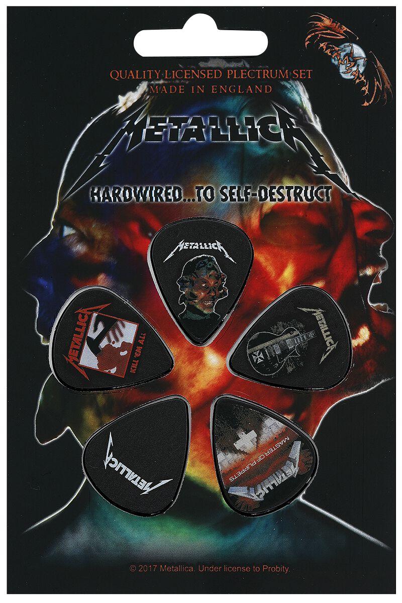 Metallica Mix Plektrum-Set Mehrfarbig