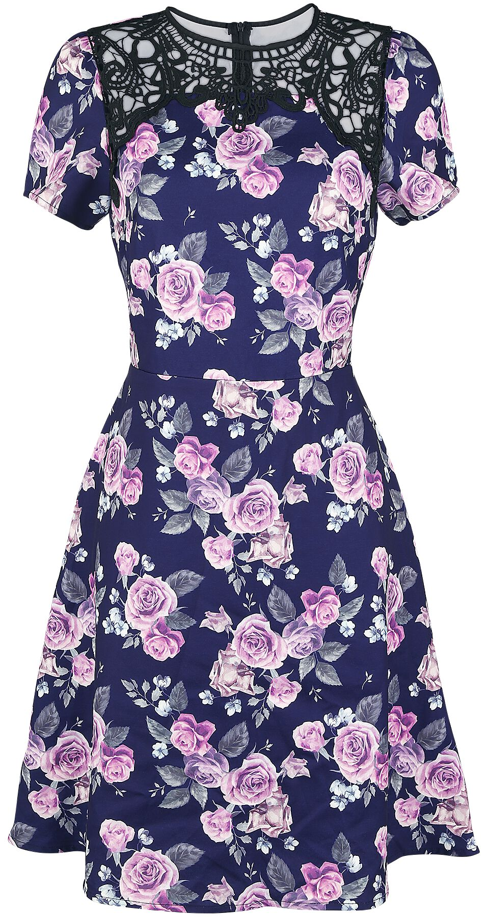 Fashion Victim Blumenkleid Kleid multicolor