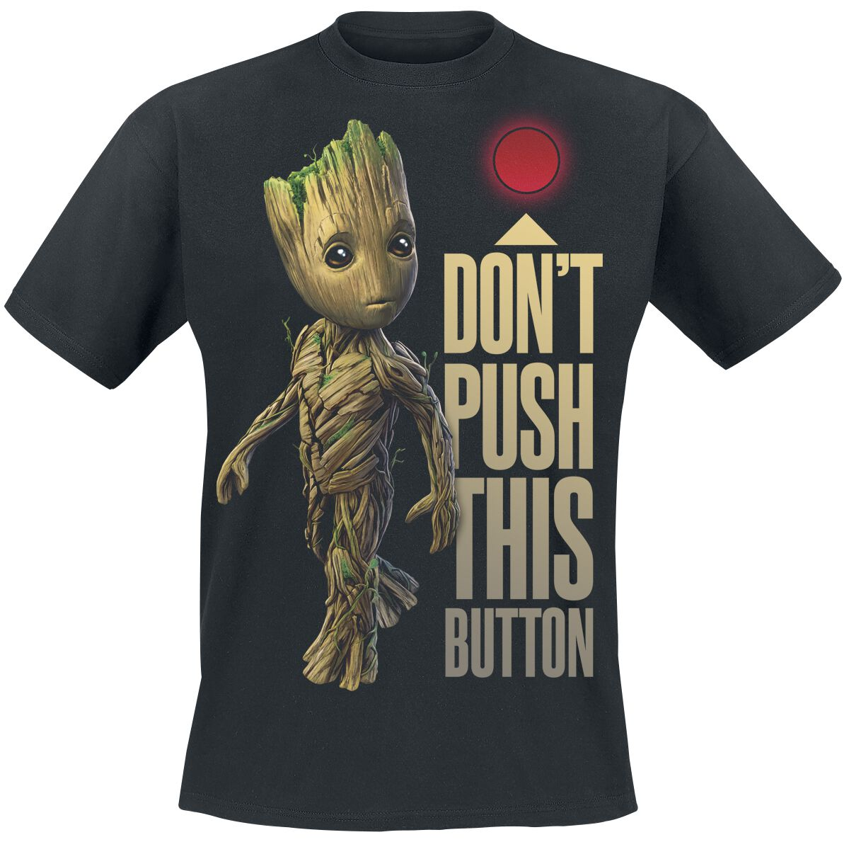 Image of   Guardians Of The Galaxy 2 - Groot - Button T-Shirt sort