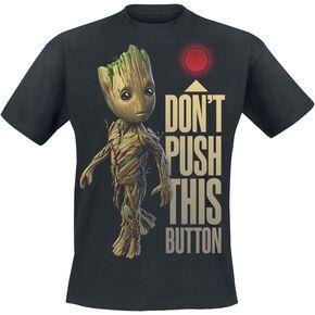 Les Gardiens De La Galaxie 2 - Groot - Button T-shirt noir