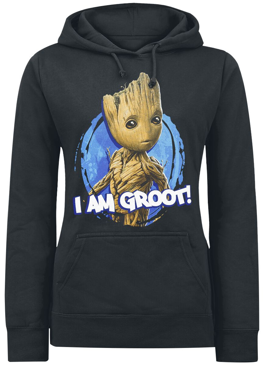 Image of   Guardians Of The Galaxy 2 - I am Groot Girlie hættetrøje sort