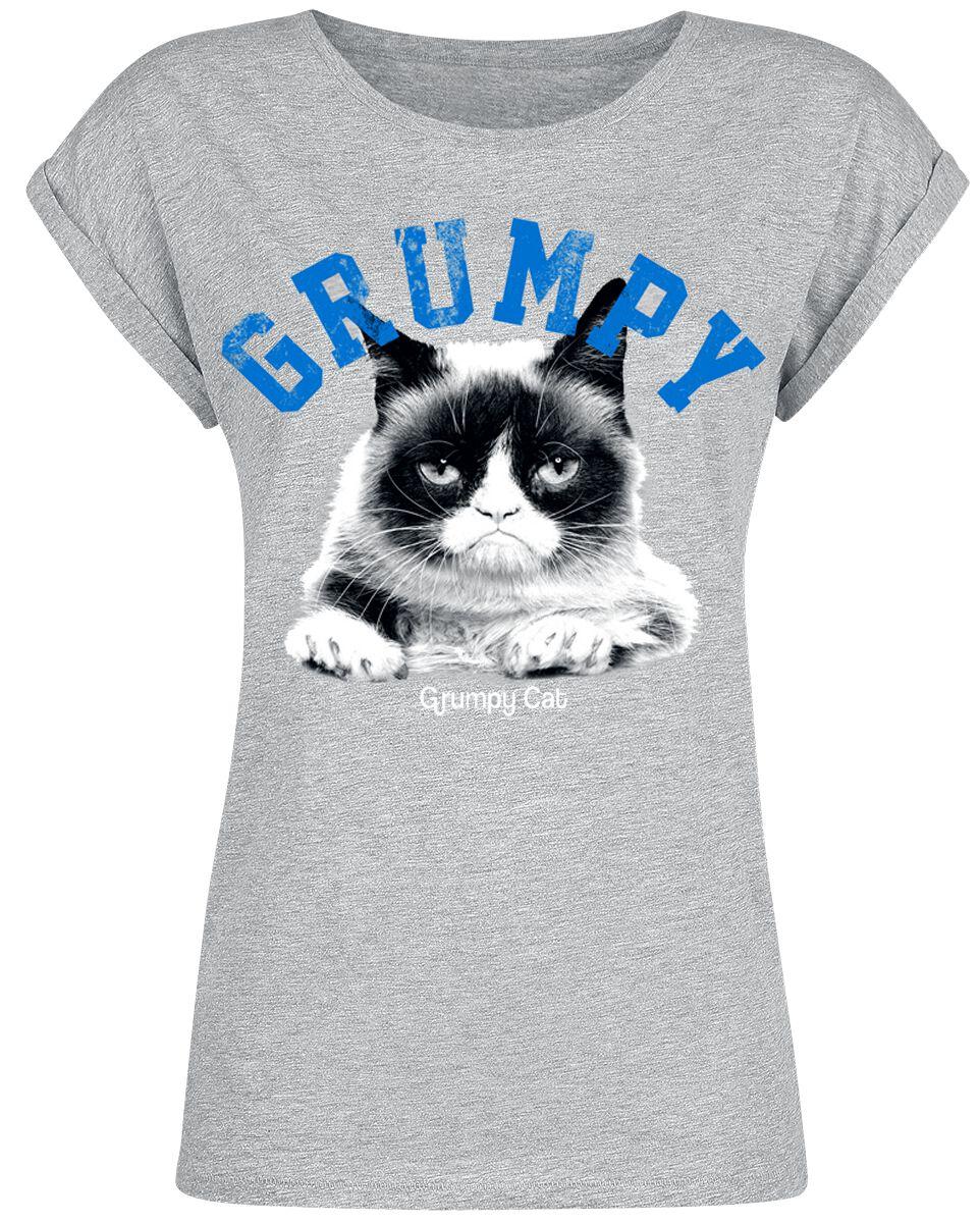 Grumpy Cat Grumpy Koszulka damska odcienie szarego