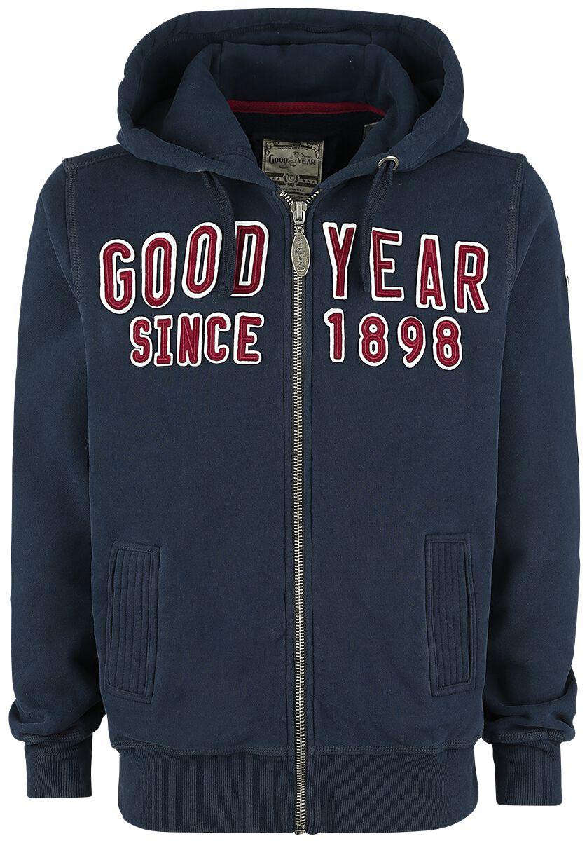 Marki - Bluzy z kapturem - Bluza z kapturem rozpinana GoodYear Fayetteville Bluza z kapturem rozpinana ciemnoniebieski - 370622