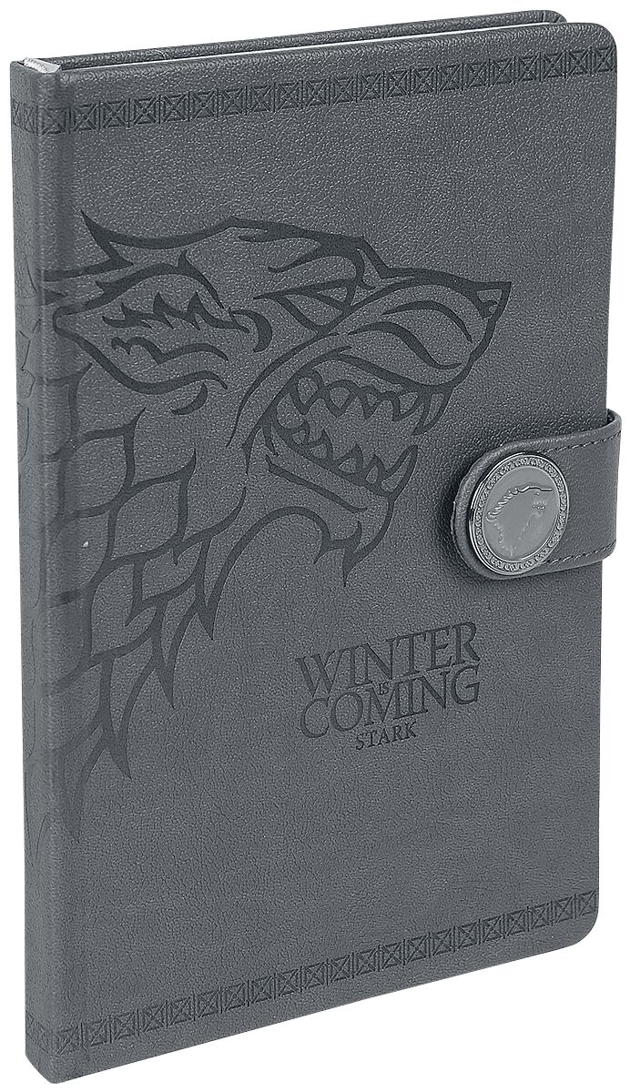 Image of   Game Of Thrones House Stark Notesbog sort