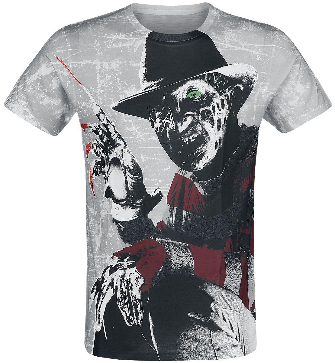 Merch dla Fanów - Koszulki - T-Shirt Koszmar z ulicy Wiązów Freddy Krueger Allover T-Shirt wielokolorowy - 370665