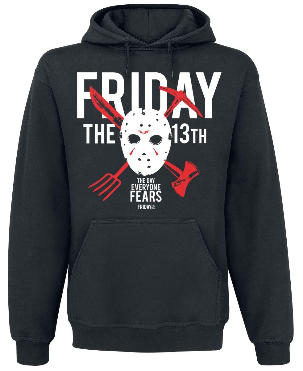 Merch dla Fanów - Bluzy z kapturem - Bluza z kapturem Friday The 13th The Day Everyone Fears Bluza z kapturem czarny - 370667