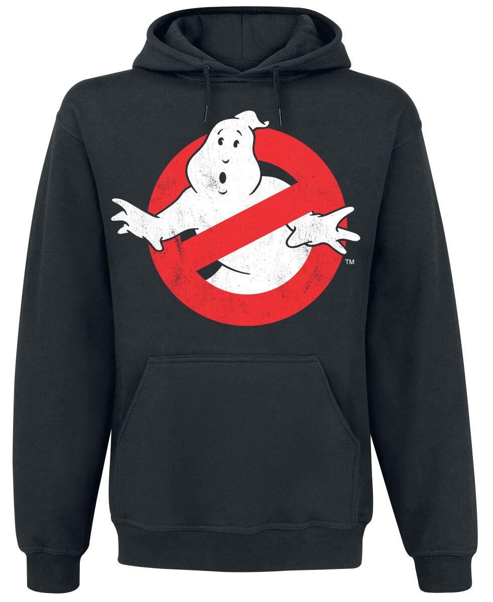 Merch dla Fanów - Bluzy z kapturem - Bluza z kapturem Ghostbusters Distressed Logo Bluza z kapturem czarny - 370668
