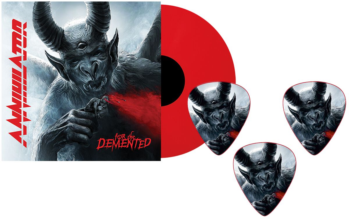 Image of   Annihilator For the demented LP & plektersæt rød
